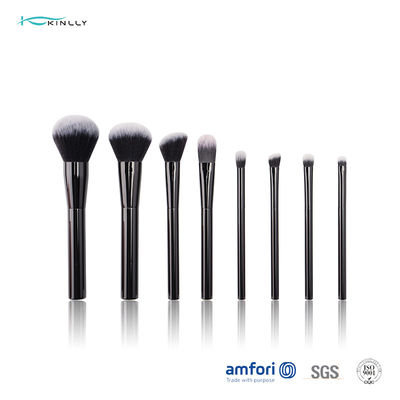 100% Synthetic Hair Travel Makeup Brush Set With Metal Handle